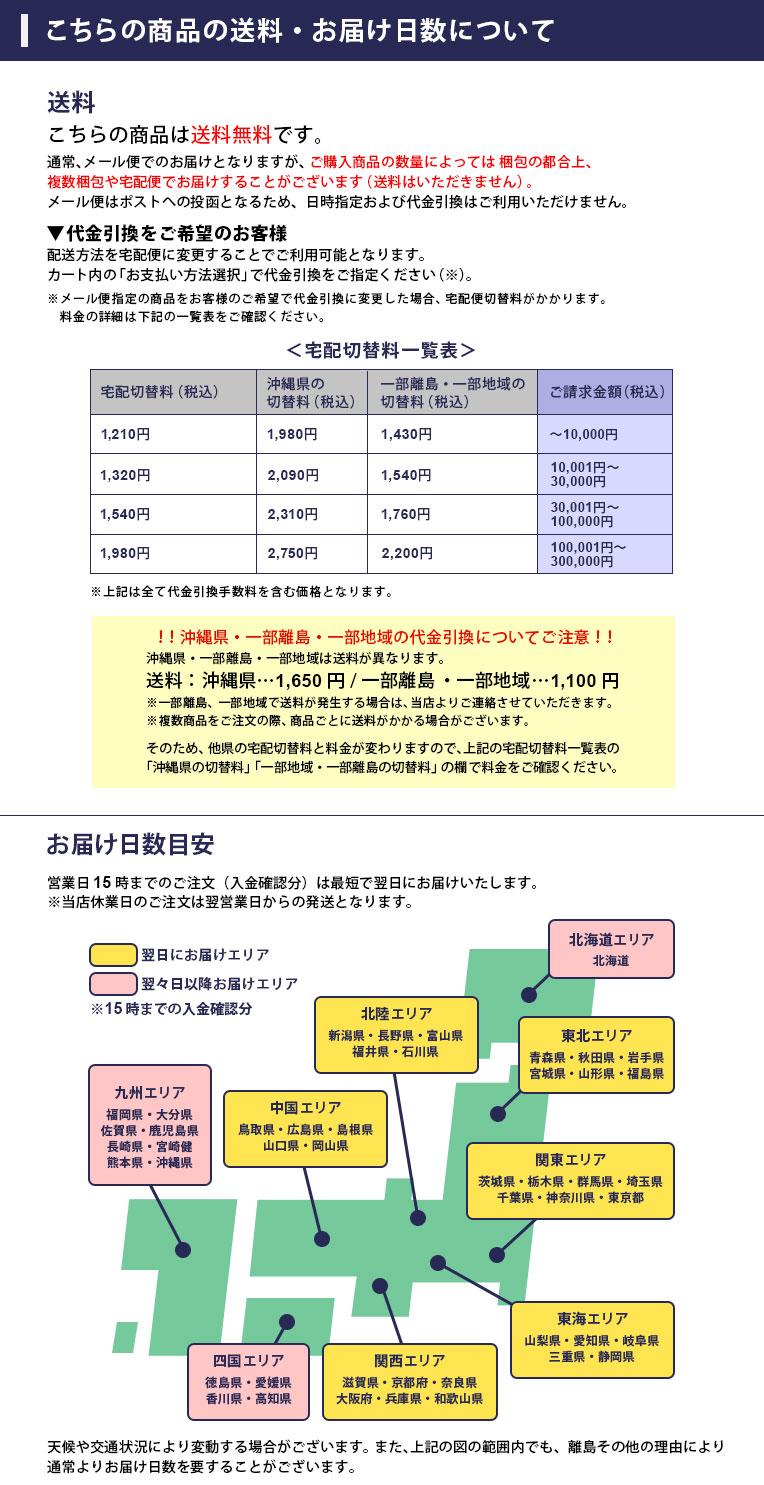 商品の送料・お届け日数について(メール便)